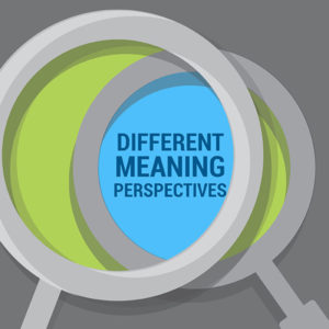 Two overlapping magnifying glasses illustration